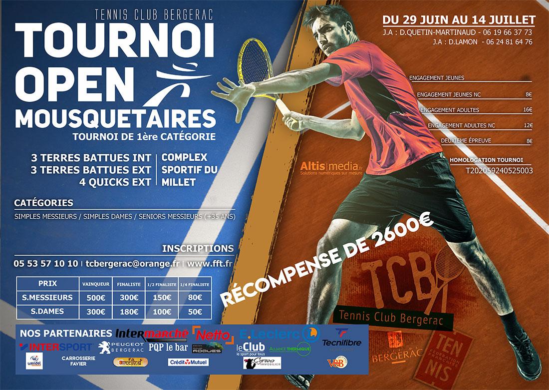 Tournoi OPEN «Mousquetaires» – Tournoi de 1ère catégorie